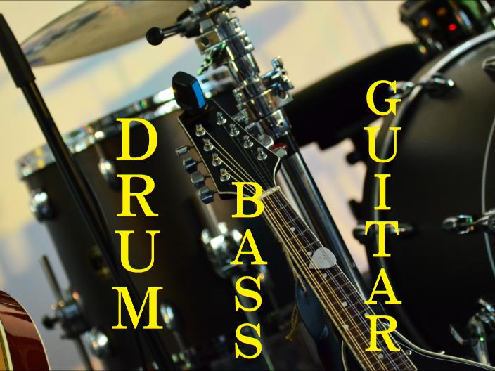 (ジングル)フリーBGM無料音楽素材 【かっこいい、ドラム、ベース、ギター、弾けるリズム、テンポがいい】 「ジングル7」